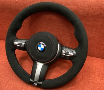 Перетяжка руля BMW в алькантару