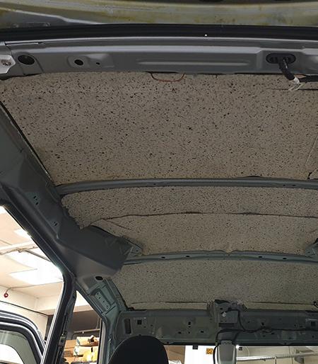 Шумка крыши авто